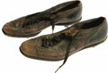 Baseball Collectibles:Uniforms, 1966-67 Carl Yastrzemski Game Worn Spikes. Heavily-worn pair of shoes was a gift to the Red Sox' spring training bat boy fr...
