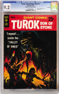 Silver Age (1956-1969):Adventure, Turok, Son of Stone Giant #1 File Copy (Gold Key, 1966) CGC NM- 9.2 Cream to off-white pages....