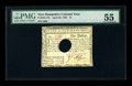 Colonial Notes:New Hampshire, New Hampshire April 29, 1780 $1 PMG About Uncirculated 55 HOC. Thishole cancelled issue appears fully uncirculated as the c...