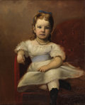 Texas:Early Texas Art - Impressionists, LOUIS EYTH (b. 1838). Pearl (Pearl Lawther age 3 1/2 years),1870s. Oil on linen. 22in. x 27in.. Signed lower right. L...