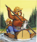 Original Comic Art:Covers, Morris Gollub - Four Color #818 Smokey the Bear Cover Original Art(Dell, 1957). ...