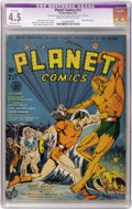 Golden Age (1938-1955):Science Fiction, Planet Comics #12 (Fiction House, 1941) CGC Apparent VG+ 4.5Moderate (P) Cream to off-white pages....