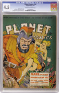 Golden Age (1938-1955):Science Fiction, Planet Comics #16 (Fiction House, 1942) CGC VG+ 4.5 Cream tooff-white pages....