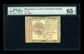 Continental Currency January 14, 1779 $80 PMG Gem Uncirculated 65 EPQ. As the largest Continental denomination, this iss...