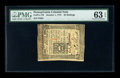 Colonial Notes:Pennsylvania, Pennsylvania October 1, 1773 50s PMG Choice Uncirculated 63 EPQ. Acrisp example of this columned issue that has three super...