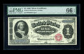 Large Size:Silver Certificates, Fr. 215 $1 1886 Silver Certificate PMG Gem Uncirculated 66 EPQ. Perfect colors highlight this second note from the consecuti...