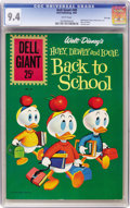 Silver Age (1956-1969):Humor, Dell Giants #49 Huey, Dewey, and Louie Back to School - File Copy (Dell, 1961) CGC NM 9.4 White pages....