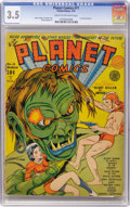 Golden Age (1938-1955):Science Fiction, Planet Comics #11 (Fiction House, 1941) CGC VG- 3.5 Cream tooff-white pages....