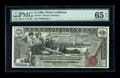 Large Size:Silver Certificates, Fr. 224 $1 1896 Silver Certificate PMG Gem Uncirculated 65 EPQ. The final note from this lovely group.. From The Lincoln C...