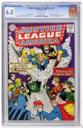 Silver Age (1956-1969):Superhero, Justice League of America #21 (DC, 1963) CGC FN+ 6.5 Off-whitepages....