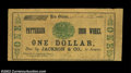 Obsoletes By State:Louisiana, New Orleans, LA- Patterson Iron Works $1 March 12, 1862