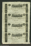 Obsoletes By State:Ohio, Cincinnati, OH - Post Note $1-$2-$3-$5 Uncut Sheet of Four...