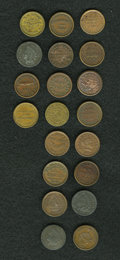 Civil War Merchants, Group Lot of 20 Civil War Merchant Tokens, Uncertified.... (Total:20 tokens)