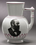 Political:3D & Other Display (pre-1896), James A. Garfield: Portrait Vase with Handle....