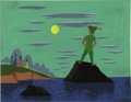 "Animation Art:Production Drawing, Mary Blair - ""Peter Pan"" Animation Concept Painting Original Art(Disney, 1953). ..."