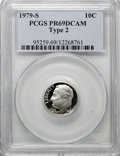 Proof Roosevelt Dimes: , 1979-S 10C Type Two PR69 Deep Cameo PCGS. PCGS Population(2101/90). NGC Census: (307/14). Numismedia Wsl. Price for NGC/P...