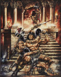 Original Comic Art:Covers, Michael Leo Lieberman - The Savage Sword of Conan the Barbarian#228 Cover Painting Original Art (Marvel, 1994)....