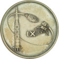 Explorers:Space Exploration, Apollo 9 Flown Robbins Sterling Silver Medallion,...