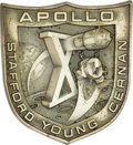 Explorers:Space Exploration, Apollo 10 Flown Robbins Sterling Silver Medallion,...