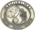 Explorers:Space Exploration, Apollo 14 Flown Robbins Sterling Silver Medallion,...