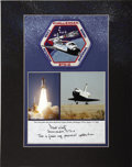 Explorers:Space Exploration, Challenger STS-6 Flown Crew Patch Authenticated by STS-6 Commander Paul Weitz. ...