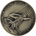 Explorers:Space Exploration, Space Shuttle Columbia (STS-28) Unflown Silver RobbinsMedallion Directly from the Personal Collection of Astronau...