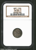 Bust Dimes: , 1835 10C MS64 NGC. JR-5, R.1. A few of the curls over ...
