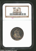 Proof Seated Quarters: , 1882 25C PR 65 NGC. ...