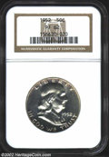 Proof Franklin Half Dollars: , 1952 50C PR 62 NGC. ...