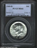 Kennedy Half Dollars: , 1968-D 50C MS66 PCGS. ...