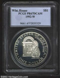 Modern Issues: , 1992-W $1 White House Silver Dollar PR 67 Deep Cameo PCGS. ...