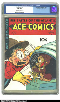 Ace Comics #55 Mile High pedigree (David McKay Publications, 1941) CGC FN+ 6.5 Off-white to white pages.. Overstreet 200...