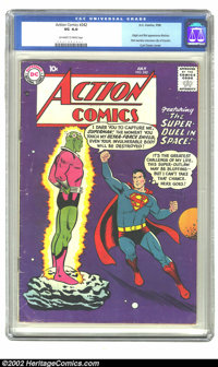 Action Comics #242 (DC, 1958) CGC VG 4.0 Off-white to white pages. Curt Swan's cover fronts this issue containing the or...