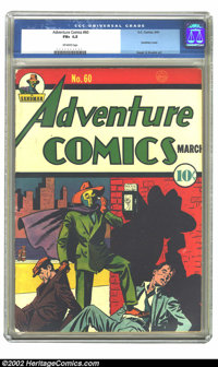 Adventure Comics #60 (DC, 1941) CGC FN+ 6.5 Off-white pages. Siegel and Shuster art. Overstreet 2002 FN 6.0 value = $924...
