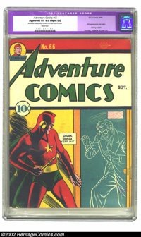 Adventure Comics #66 (DC, 1941) CGC Apparent VF 8.0 Slight (A) White pages. First appearance and origin of Shining Knigh...