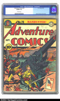 Golden Age (1938-1955):Superhero, Adventure Comics #78 (DC, 1942) CGC VG/FN 5.0 Off-white pages. Simon and Kirby cover and art. Overstreet 2002 GD 2.0 value =...