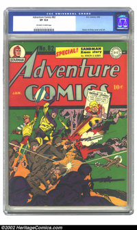 Adventure Comics #82 (DC, 1943) CGC VF 8.0 Off-white to white pages. Overstreet 2002 VF 8.0 value = $738