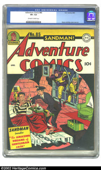 Adventure Comics #85 (DC, 1943) CGC VF+ 8.5 Off-white to white pages. Simon and Kirby cover and art. Overstreet 2002 VF...