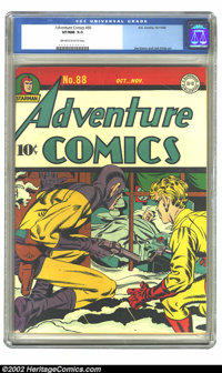 Adventure Comics #88 (DC, 1943) CGC VF/NM 9.0 Off-white to white pages. Simon and Kirby art. Overstreet 2002 NM 9.4 valu...