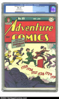 Golden Age (1938-1955):Superhero, Adventure Comics #89 (DC, 1944) CGC FN+ 6.5 Off-white to white pages. Overstreet 2002 FN 6.0 value = $354. ...