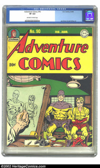 Adventure Comics #90 (DC, 1944) CGC VF 8.0 Off-white to white pages. Simon and Kirby art. Overstreet 2002 VF 8.0 value =...