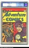 Golden Age (1938-1955):Superhero, Adventure Comics #92 (DC, 1944) CGC VF 8.0 Off-white pages. Overstreet 2002 VF 8.0 value = $597. ...
