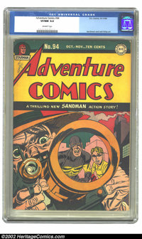Adventure Comics #94 (DC, 1944) CGC VF/NM 9.0 Off-white pages. Simon and Kirby art. Overstreet 2002 NM 9.4 value = $1,05...
