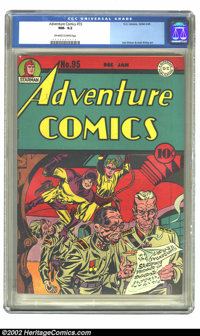 Adventure Comics #95 (DC, 1944) CGC NM- 9.2 Off-white to white pages. Simon and Kirby art. Overstreet 2002 NM 9.4 value...