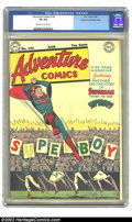 Golden Age (1938-1955):Superhero, Adventure Comics #143 Mile High pedigree (DC, 1949) CGC VF 8.0 Off-white to white pages. Overstreet 2002 VF 8.0 value = $300...