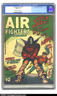 Air Fighters Comics vol. 1 #12 (Hillman Fall, 1943) CGC FN/VF 7.0 Cream to off-white pages. Overstreet 2002 FN 6.0 value...