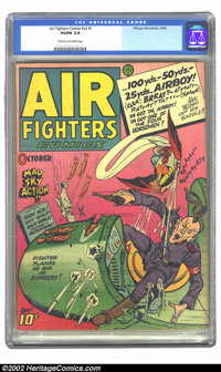 Air Fighters Comics vol. 2 #1 (Hillman Fall, 1943) CGC VG/FN 5.0 Cream to off-white pages. Classic Nazi war cover. Overs...