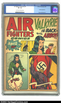 Air Fighters Comics vol 2 #7 (Hillman Fall, 1944) CGC VF- 7.5 Light tan to off-white pages. Overstreet 2002 VF 8.0 value...