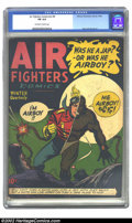 Golden Age (1938-1955):War, Air Fighters Comics vol. 2 #9 (Hillman Fall, 1944) CGC FN 6.0Off-white to white pages. Overstreet 2002 FN 6.0 value = $192....