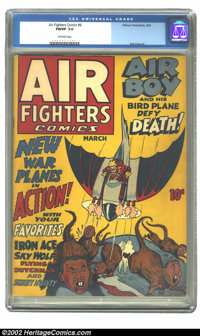 Air Fighters Comics Vol. 1, #6 (Hillman Fall, 1943)CGC FN/VF 7.0 Off-white pages. Overstreet 2002 FN 6.0 value = $315; V...